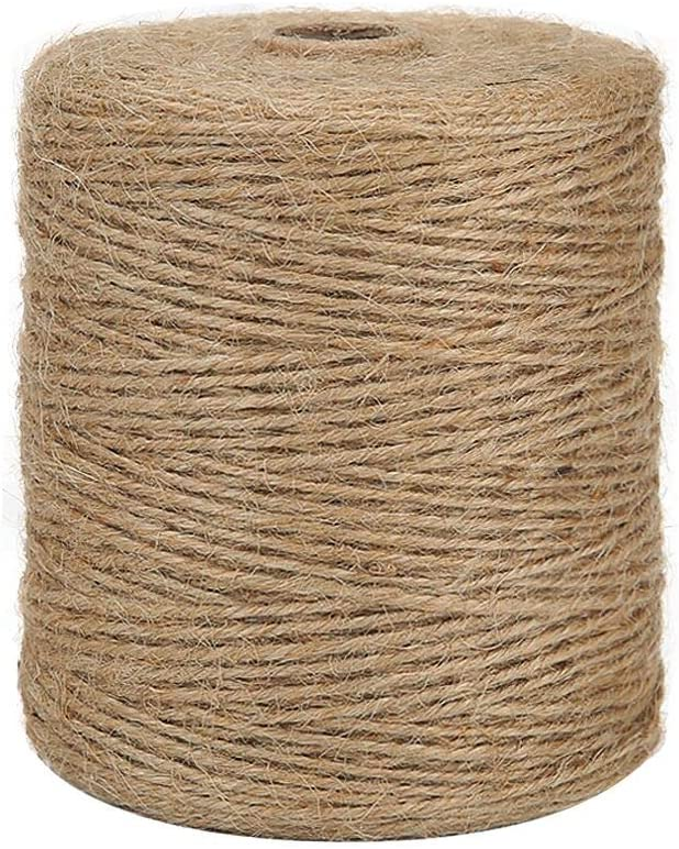 Tenn Well Natural Jute Twine 3Ply Arts Clearance SALE Ranking TOP5 Limited time and 984Feet Crafts