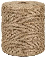 Tenn Well Natural Jute Twine, 3Ply 984Feet Arts and Crafts Jute Rope Industrial Packing Materials Packing String for Gifts...