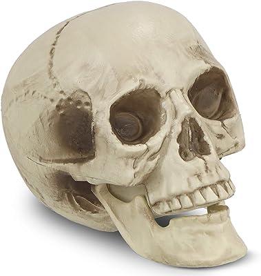 Stone Figurine Skull Frost Proof Garden Deco Sculpture Garden Figure Skull Skull
