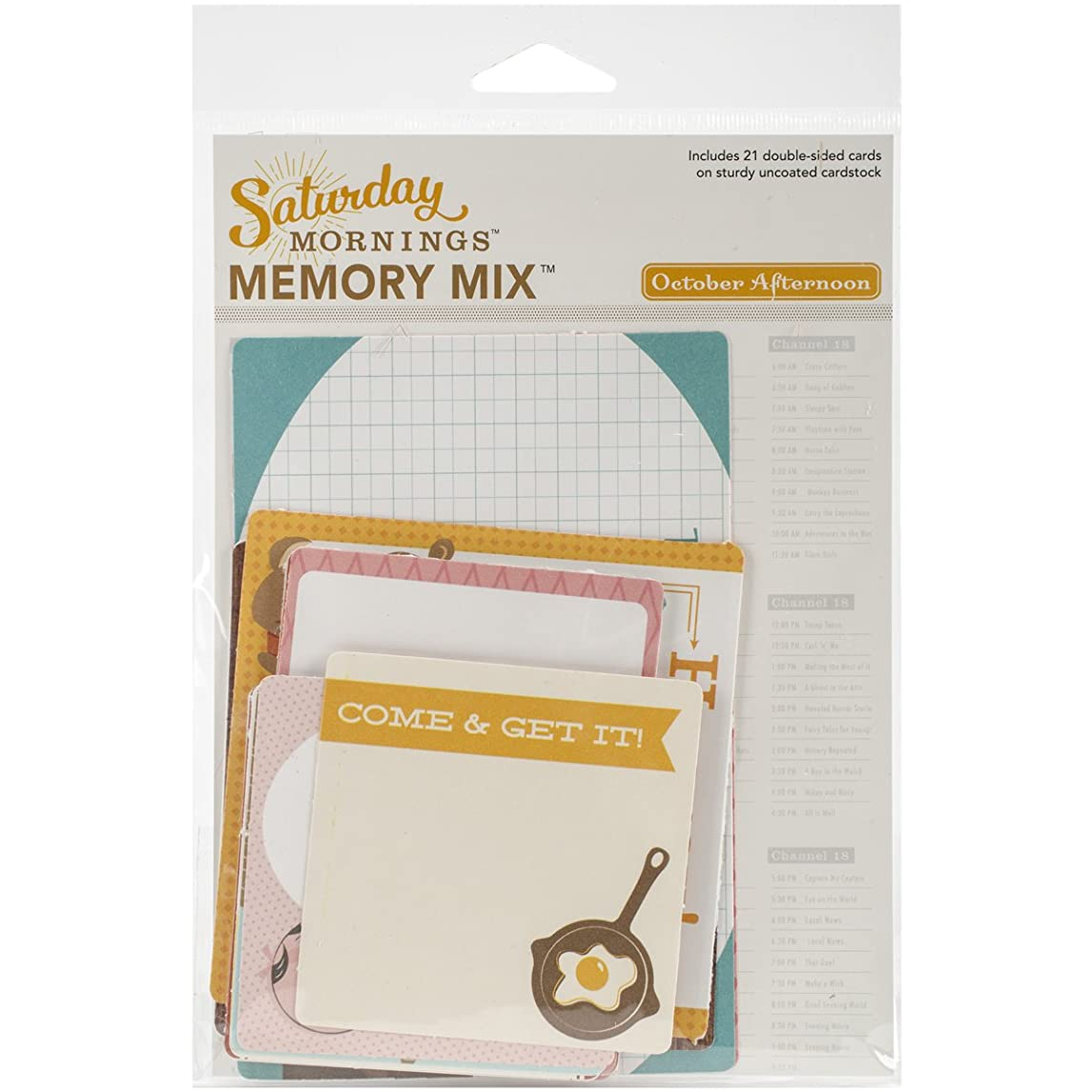 October Afternoon Saturday Mornings Cardstock Memory Card Mix