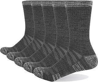 YUEDGE Women's Moisture Wicking Cotton Cushion Crew Socks 5Pairs/Pack Sports Outdoor Athletic Walking Hiking Socks