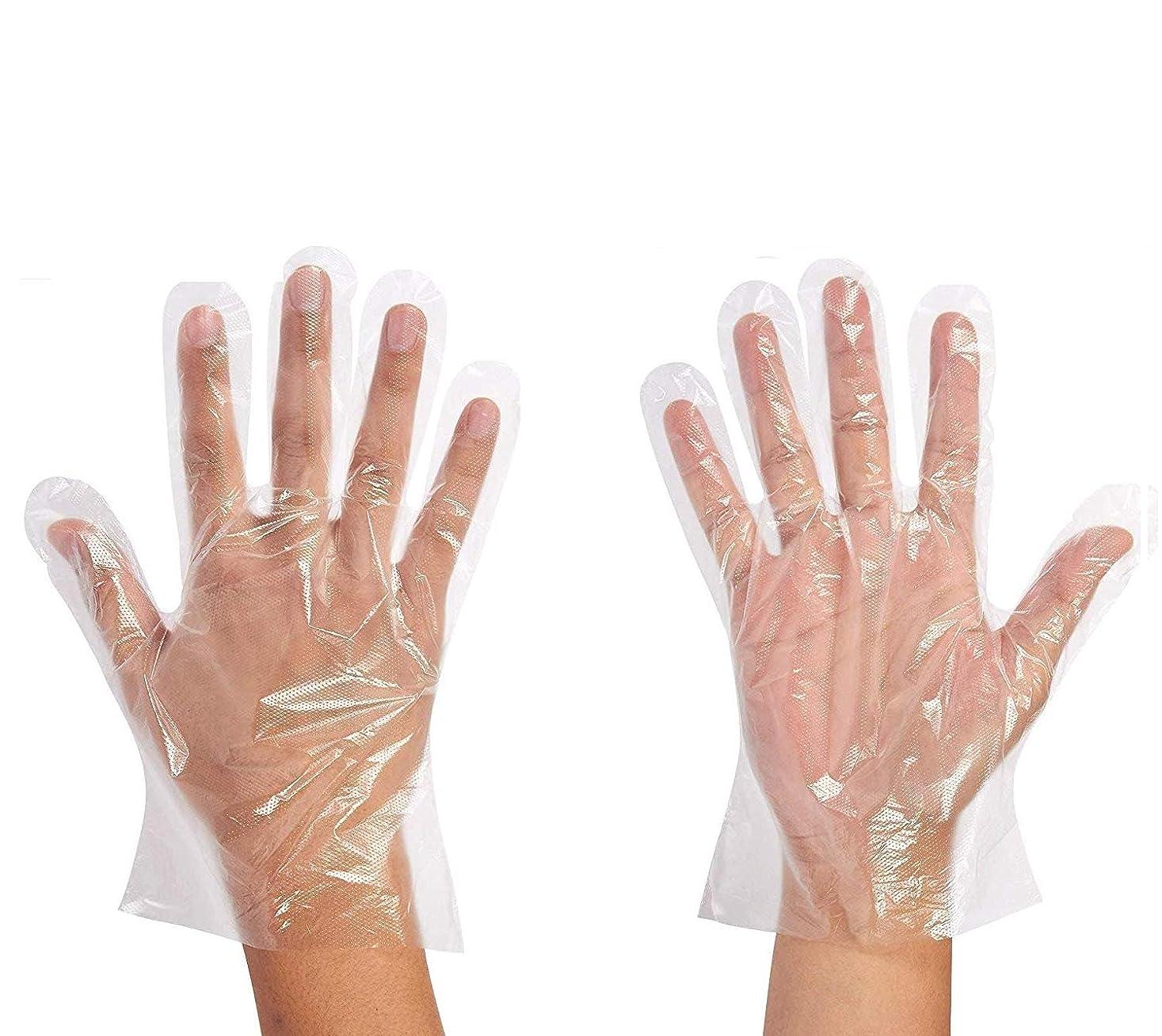 換気する散逸放射性使い捨て手袋 ポリエチレン 防水耐久性が強い上に軽く高品質 極薄 透明 500枚セット