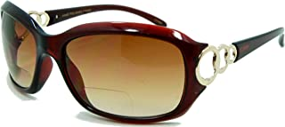 Circle Power, Nearly Invisible Line Bifocal Sunglasses