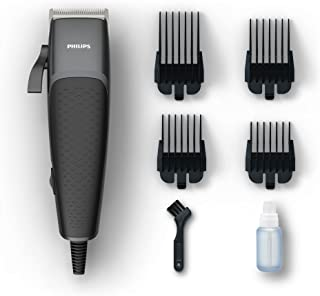 Philips HC3100 Hairclipper Series 3000 Home Clipper Copper Motor Coil, Durable, Steel Blades, 2.4m Cord, 4 Click-on Combs