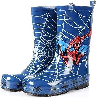 LINLIN Garçon Fille Plus Bottes de Pluie en Cachemire Spiderman Chaussures imperméables à la Pluie Automne Hiver en Plein ...