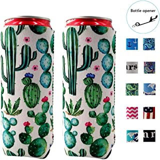ZSYKD 2pcs Slim Can Cooler, Michelob Ultra, Red Bull, White Claw, 12oz Slim cans,