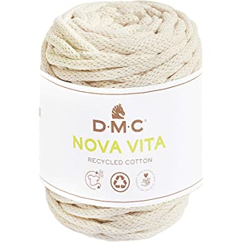 DMC Nova Vita Cotton 031 - Hilo de macramé (4 mm de grosor, 250 g de algodón, para tejer, ganchillo para agujas de 12 mm de grosor): Amazon.es: Hogar