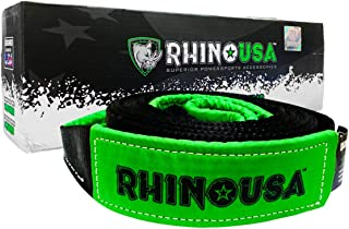 Rhino USA Tree Saver Winch Strap 3 inch x 8 Foot - Lab Tested 31,518lb Break Strength - Triple Reinforced Loop End to Ensure Peace of Mind - Emergency Off Road Recovery Tow Rope - Unlimited Warranty!