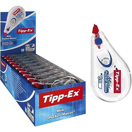 Tipp-Ex Korrekturroller Mini Pocket Mouse, 6m x 5mm, 10er Pack, Ideal für das Büro, das Home Office oder die Schule, weiß