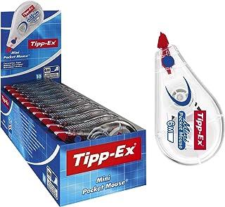 Tipp-Ex Mini Pocket Mouse Cinta Correctora muy Resistente – 6 m x 5 mm, Caja de 10 unidades, Cinta plástica en color blanco