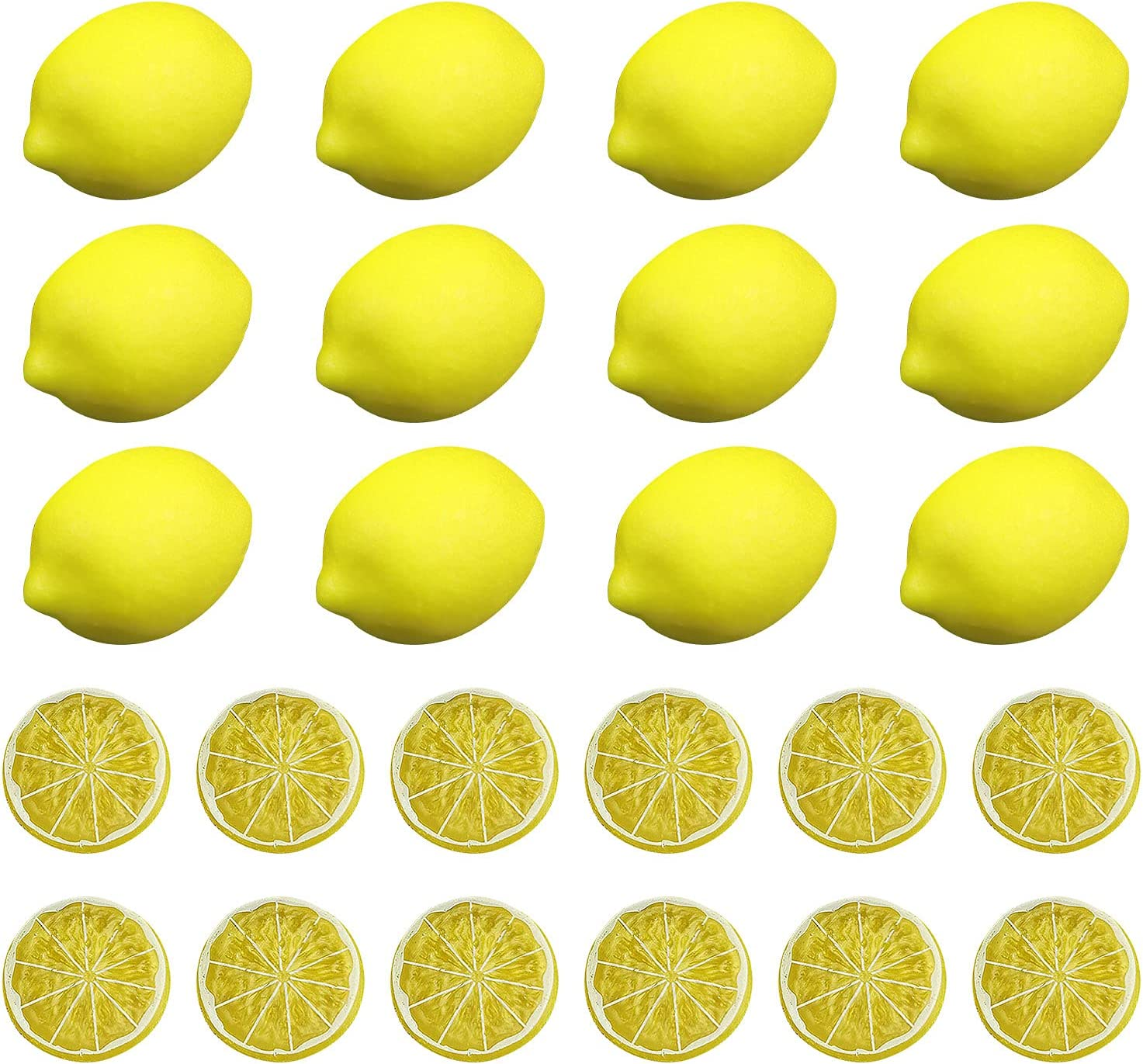 Londegeri Faux Max 69% OFF Yellow Lemons Fake Lif Artificial Ranking integrated 1st place Fruits