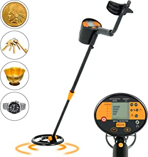 SUNCOO Adjustable Metal Detector for Kids Adults Waterproof Search Coil Treasure Hunter 2 Modes High Accuracy Metal Finder Silver and Gold Digger