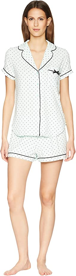 Kate Spade New York Mini Dot Classic Short Pajama Set