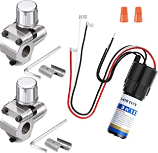 3 Pieces RCO410 3 in 1 Compressor Hard Start Capacitor Kit for Refrigerators 1/4-1/3 H.P. 115VAC and BPV-31 Bullet Piercing Tap Valve Kits Compatible with 1/4,5/16,3/8 Inch Outside Diameter Pipes