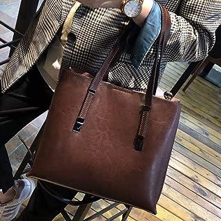 LIMING Bags Women Bags Shoulder Bags Retro Fashion Wild Handbags Casual Messenger Bags Deep Bean Paste,Colour:Brown (Color...