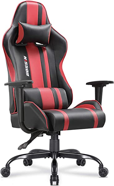 Gaming Chair Racing Style High Back Computer Chair Swivel Ergonomic Executive Office Leather Chair Video Gaming Chair Red