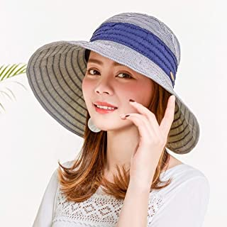 Mini personality baseball cap Women sun hat summer sun hat with velcro adjustment hole horsetail foldable collapsible breathable outdoor beach -7 kinds of colors (Color : Light Blue)