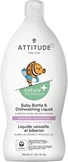 ATTITUDE Baby Dish Soap, Non-toxic, Plant-based, Eco-Friendly, Fragrance-Free, 23.7 Fl Oz Sweet Lullaby