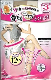 (フクスケ)fukuske 骨盤 ひきしめ ベルト 設計 サポート タイプ パンティ ストッキング 3足組 (パンスト)