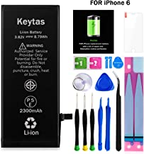 Keytas 2300mAh Replacement Battery Compatible with iPhone 6, for iPhone 6 High Capacity..