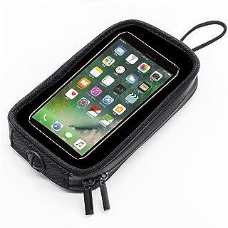 Bolsa magnética para motocicleta, capa transparente à prova d'água para celular com 7 ímãs poderosos, bolsa para celular p...