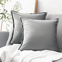 Deals on 2-Pack Bedsure Velvet Throw Pillow Covers 20x20-inch