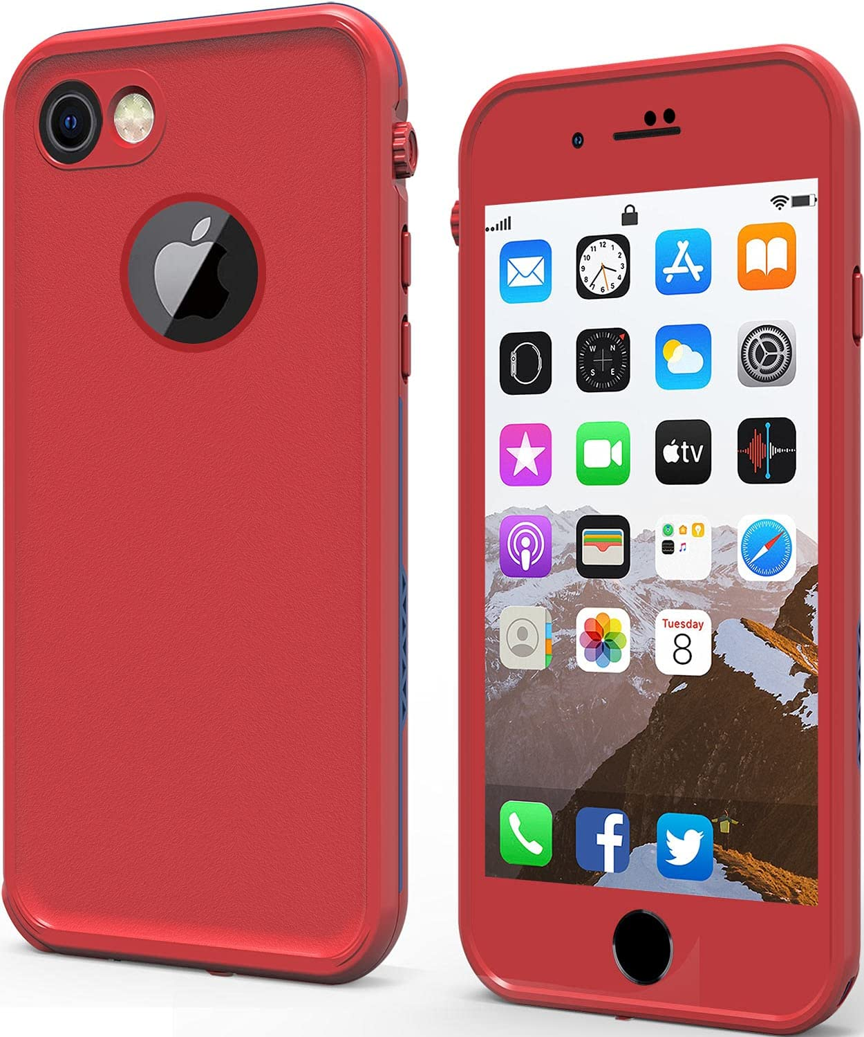 LOVE BEIDI iPhone 8 7 Waterproof Case Cover Built-in Screen Protector Fully Sealed Life Shockproof Snowproof Underwater Protective Cases for iPhone 8 7 4.7