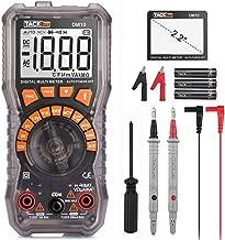Multimetro digitale, Tester per batterie Tacklife DM10, Tester per multimetri Tester per 1.5V / 6V / 9V / 12V, multimetro digitale per auto-allineamento, diodo, resistenza, capacità