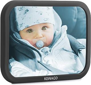 KEWAGO Baby Spiegel fürs Auto, Rücksitzspiegel Autospiegel – Bruchsicherer..