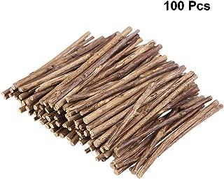 Yardwe 100pcs Wood Sticks Natural Branch Sticks DIY Art Craft Log Sticks Photo Props 10CM