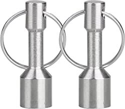 EEEKit Metal Magnet Keychain, 2-Pack Super Strong Neodymium Split Ring Pocket Keyring Holder for Metal Recyclers, Brokers, Antique Buyers, Hobbyists and Collectors