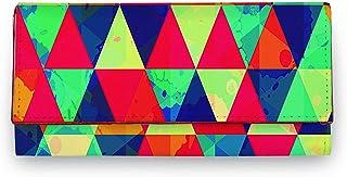 ShopMantra Women's Vector Tribal Ethnic Pattern Artificial Leather Wallet Clutch Purse - Multicolor