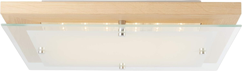 Brilliant Hardwood LED Deckenleuchte Wandleuchte 40x40cm eiche wei 2100 Lumen, LED integriert