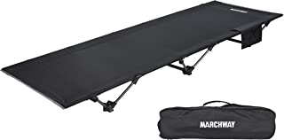 MARCHWAY Lightweight Folding Tent Camping Cot Bed, Portable Compact for Outdoor Travel, Base Camp, Hiking, Mountaineering, Backpacking, Newer Model in 2019