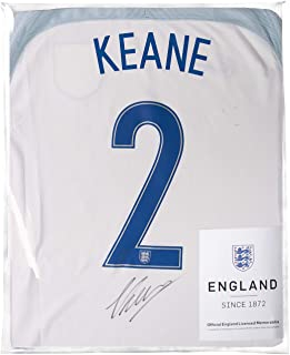 Icons.com Michael Keane Official England Back Signed 2016-17 Home Shirt: Number 2