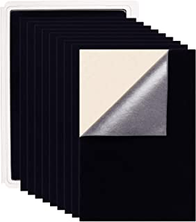 """BENECREAT 20Pcs Velvet Fabric Sticky Back Adhesive Back Sheets, A4 Sheet (8.3"""" X 11.8""""), Self-Adhesive, Durable And Water ..."""