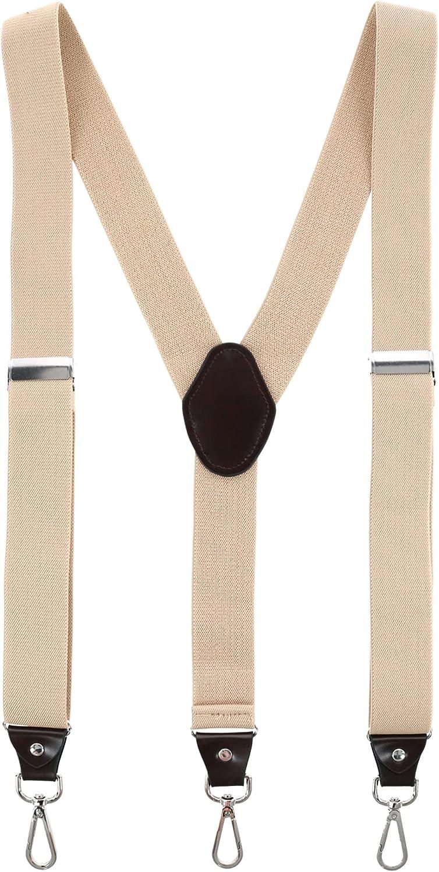 Trendy Yuppy Men's 1.375 Inch Wide Suspender with Drop Tab Swivel Hook Ends