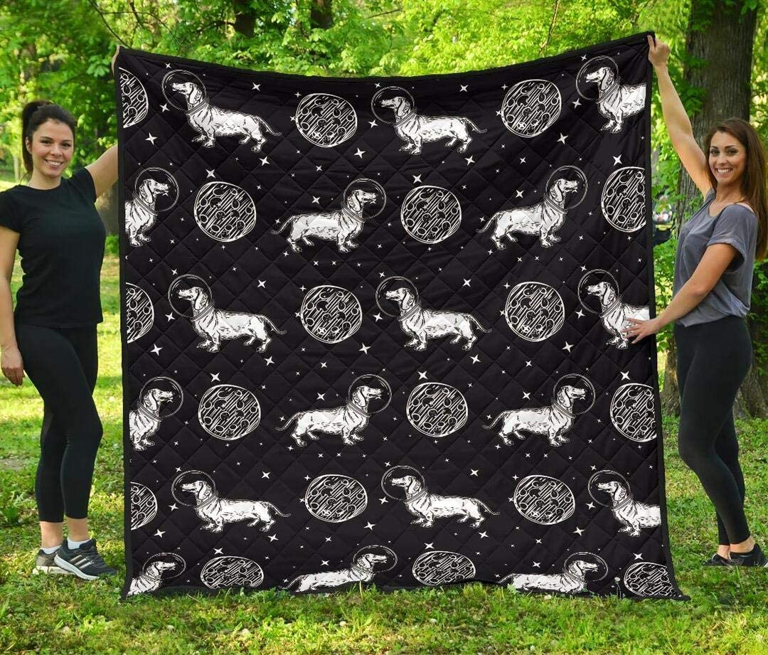 Personalized Lovely Astronaut Dachshund Tucson Mall Quilt Ranking TOP8 Dog My to -