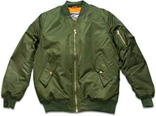Adult Blank No Patch MA-1 Flight Bomber Jacket Green
