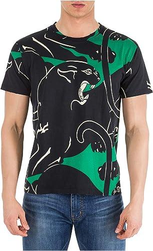 Valentino t-Shirt Panther Homme vert