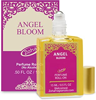 Angel Bloom Perfume Oil Roll-On (No Alcohol) - Essential Oils and Perfumes for Women and Men by Zoha Fragrances, 15 ml / 0.50 fl Oz