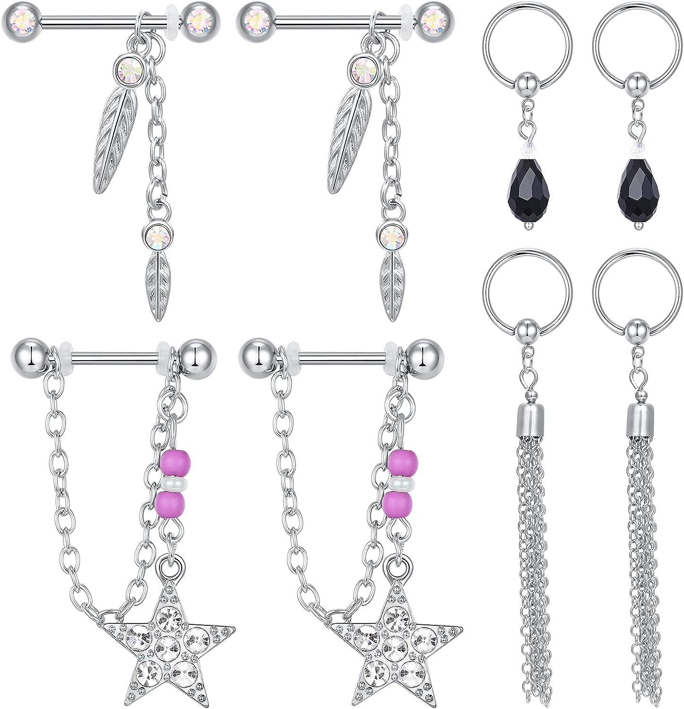 Atlanta Mall Briana Williams 14G Nipple Ring Rings Steel Max 76% OFF Stainless Nip