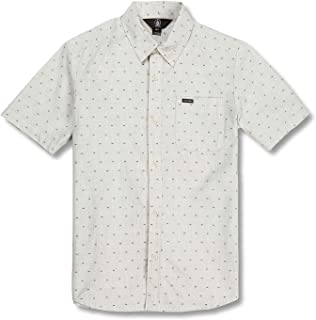 Volcom Big Boys Mark Mix Modern Fit Short Sleeve Button Up Shirt