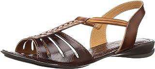 Catwalk Brown Flat Sandals for Women's