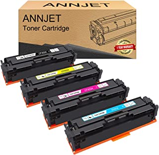 ANNJET Compatible Toner Cartridge Replacement for HP 201A CF400A CF401A CF402A CF403A for HP Color Laserjet Pro MFP M277dw...