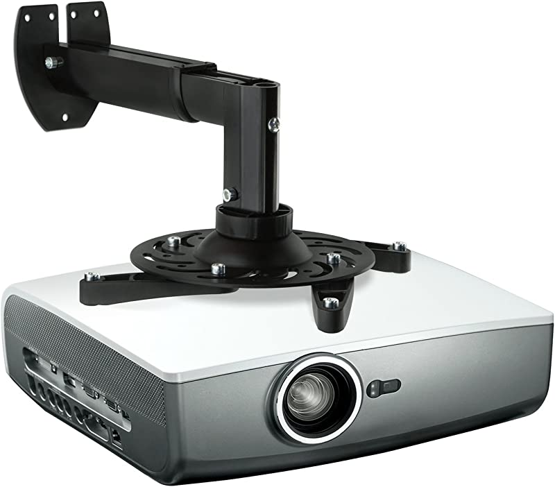 Mount-It! Projector Wall Mount Universal Adjustable Design with Extendable Length for LCD/DLP Epson, Benq, Optoma Projectors