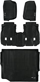 MAXLINER Floor Mats and Cargo Liner Set Black for JL New Body 2018-2019 Jeep Wrangler Unlimited without Subwoofer (no JK)
