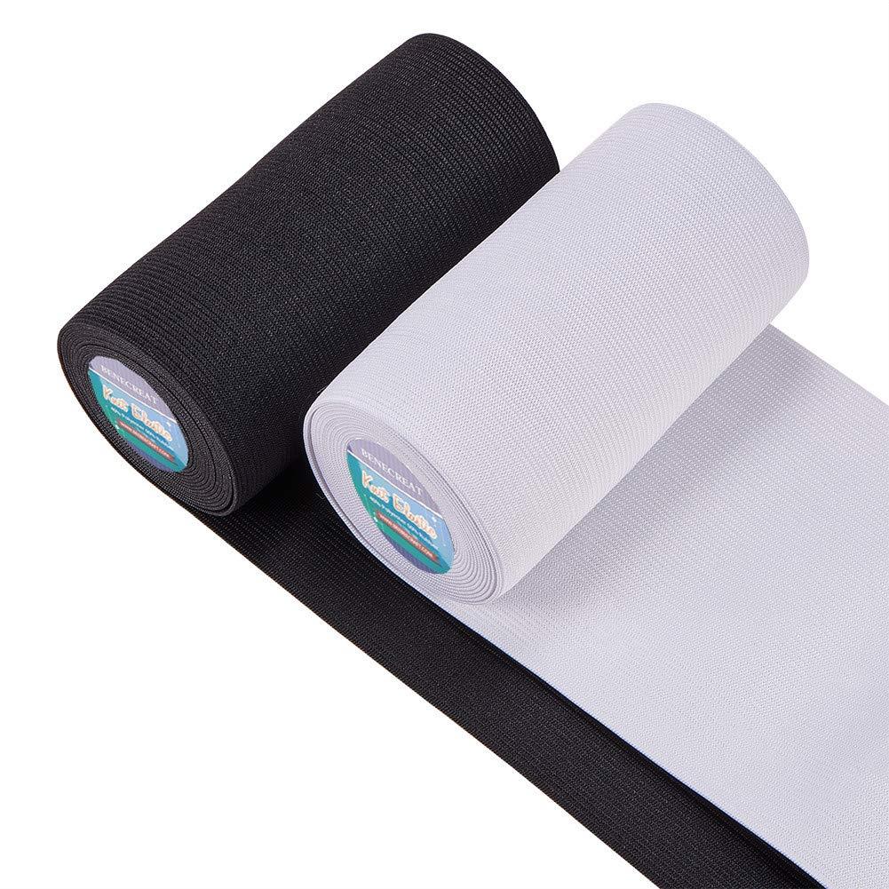 BENECREAT 10 Yards 25mm breites rutschfestes elastisches Silikon Greiferband Flaches Taillenband das elastisches Band f/ür das Kleidungsn/ähprojekt n/äht schwarz