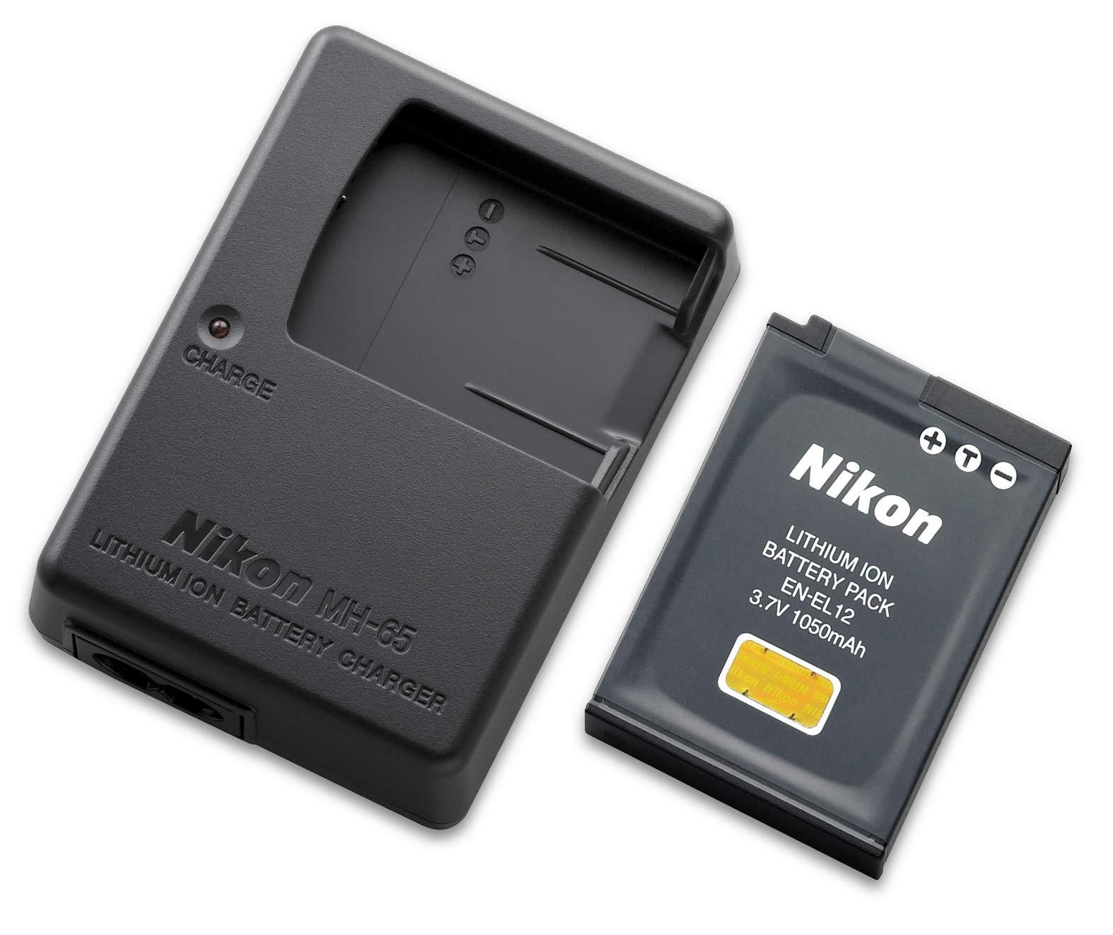 Nikon EN-EL12 - Batería de Ion de Litio y Cargador MH-65, Color Negro: Amazon.es: Electrónica