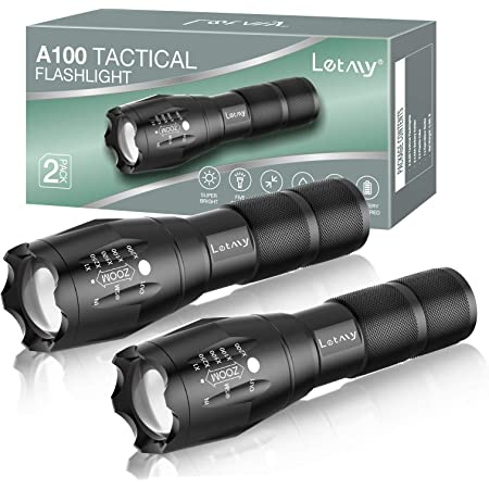 2Pack 900000LM Tactical 5Modes T6 LED 18650 Flashlight Aluminum Zoom Torch Light